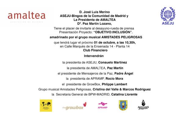 Amaltea y BPW-Madrid ofrecen una salida a las mujeres más desfavorecidas con la financiación de ASEJU-Bingos de la Comunidad de Madrid